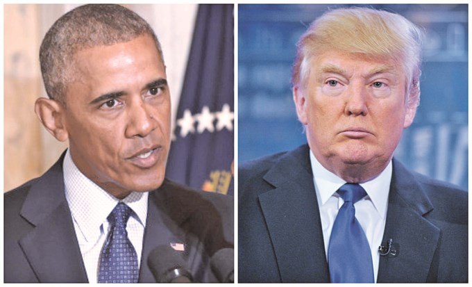 Trump le apuntó a Obama por protestas