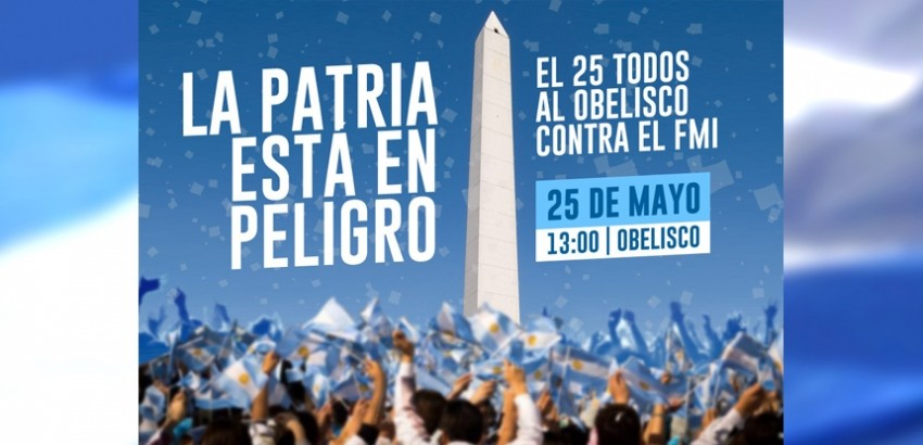 25 de mayo. Convocatoria popular